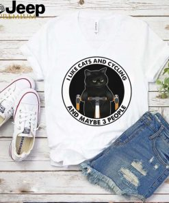 Black Cat Bicycle I Like Cats And Cycling And Maybe 3 People shirt