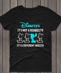 Mickey Mouse Autism Diabetes Its Not A Disability Its A Different Ability Shirt